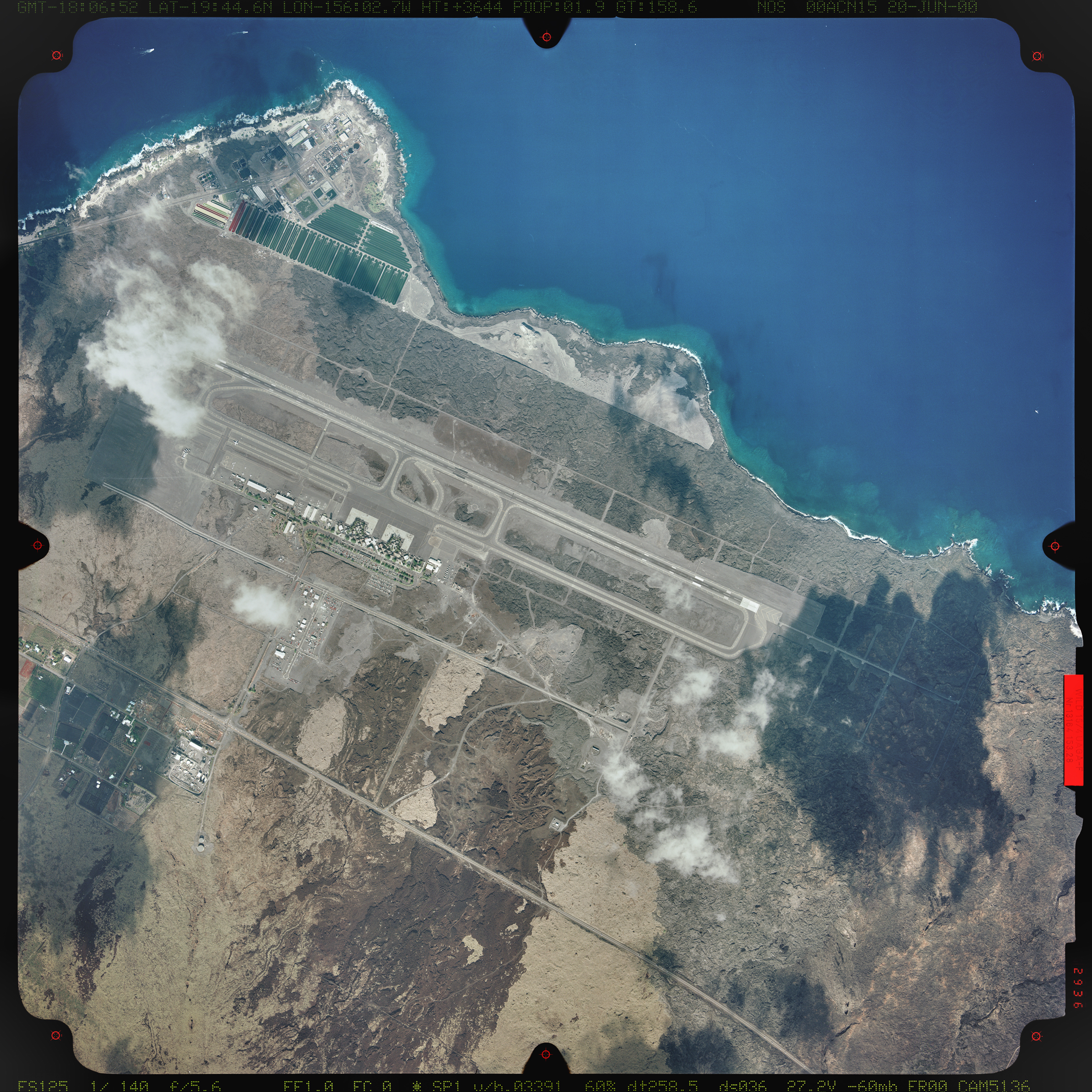 Aerial photograph of Kona International Airport, 2000